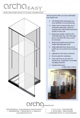 New Archa EASY museum display case